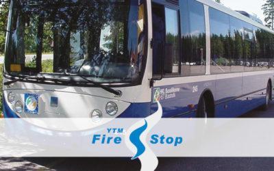 Liikkuvan kaluston ratkaisut - YTM-Firestop sammutusjärjestelmät linja-autoihin