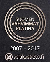 Asiakastiedon Suomen vahvimmat -sertifikaatti