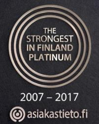The Strongest in Finland Certificate