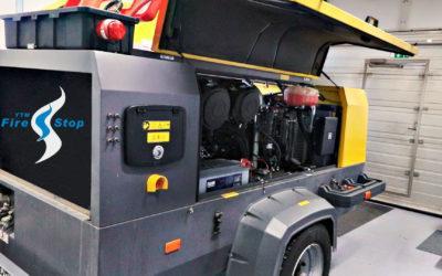 YTM-Firestop sammuttaa tulipalot myös vaunukompressoreissa